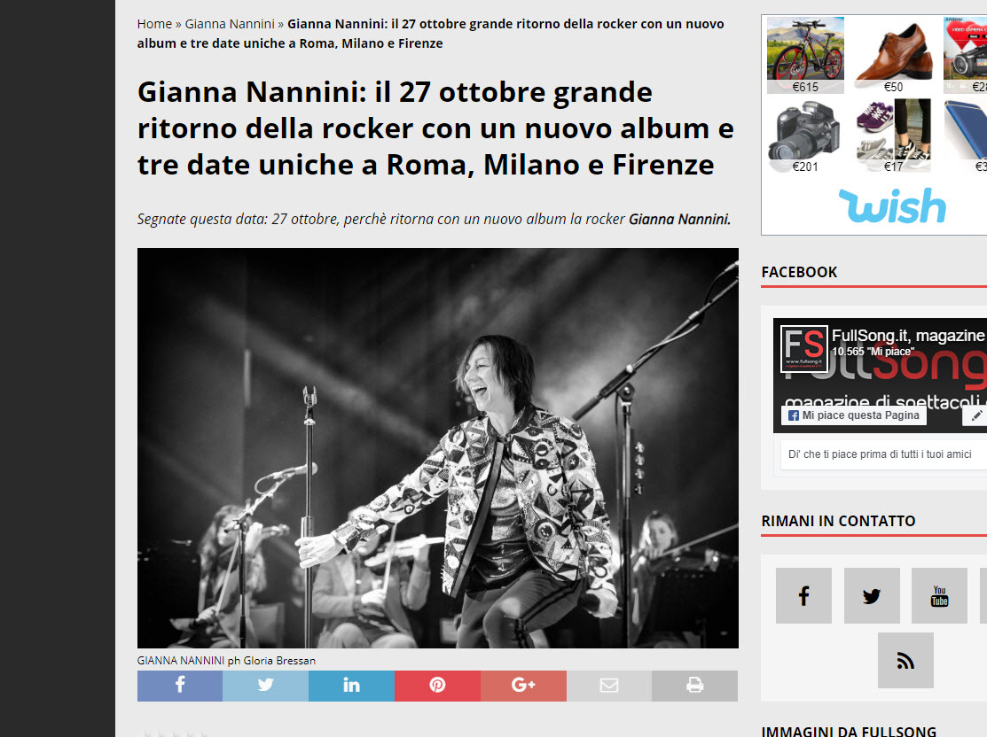 gianna nannini foto tour-gloria bressan